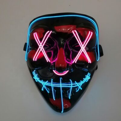 "Full face 2 colour el-wire ""The Purge"" mask"