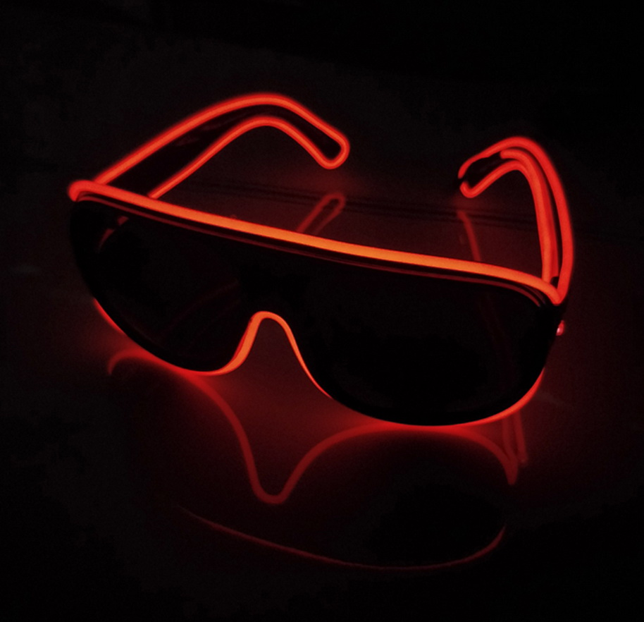 Light-Up el-wire rayban glasses